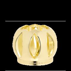 Sierdop in glanzend gouden metaal