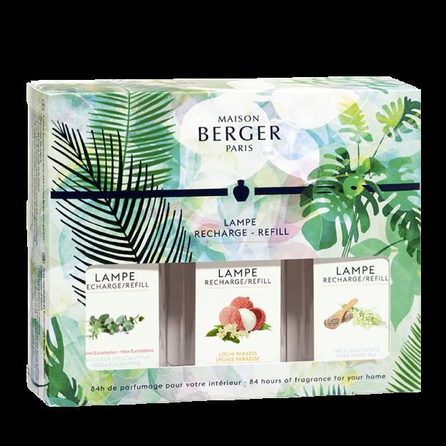 Triopack Immersion Fraîcheur d'Eucalyptus, Litchi Paradis & Thé Blanc Pureté